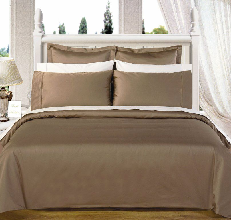 Scotts-sales California-King 8PC Solid TAUPE 550TC Egyptian cotton Bed in a bag