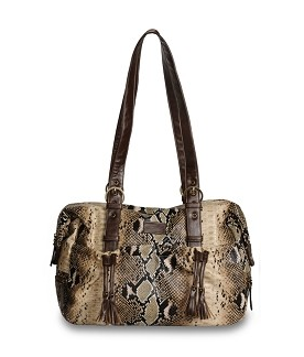 Shanti diaper bag in python on Cool Mom Picks