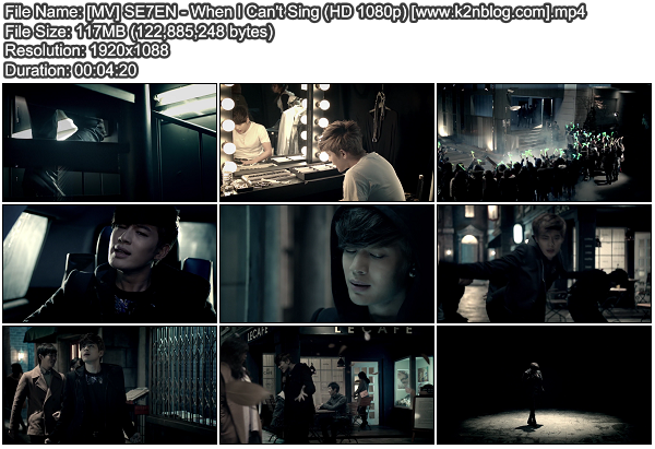 [MV] SE7EN - When I Can't Sing (HD 1080p Youtube)